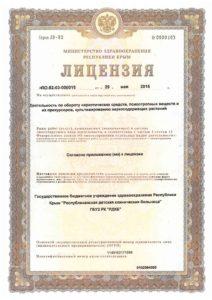 Лицензия на деятельность по обороту наркотических средств. психотропных веществ